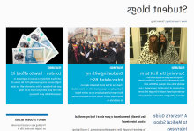 Student Blog home page